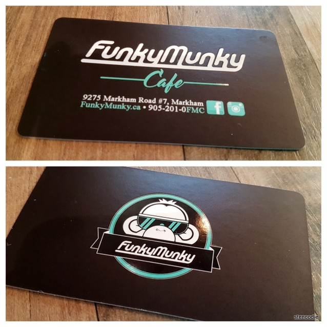 Funky Munky Cafe business card