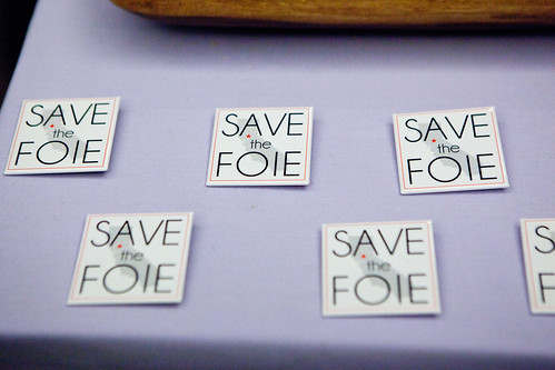 Save the Foie pins at the Press Room | by thewanderingeater