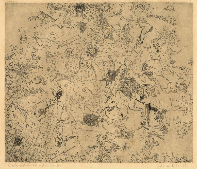 James Ensor - Devils Trashing Angels and Archangels, 1888