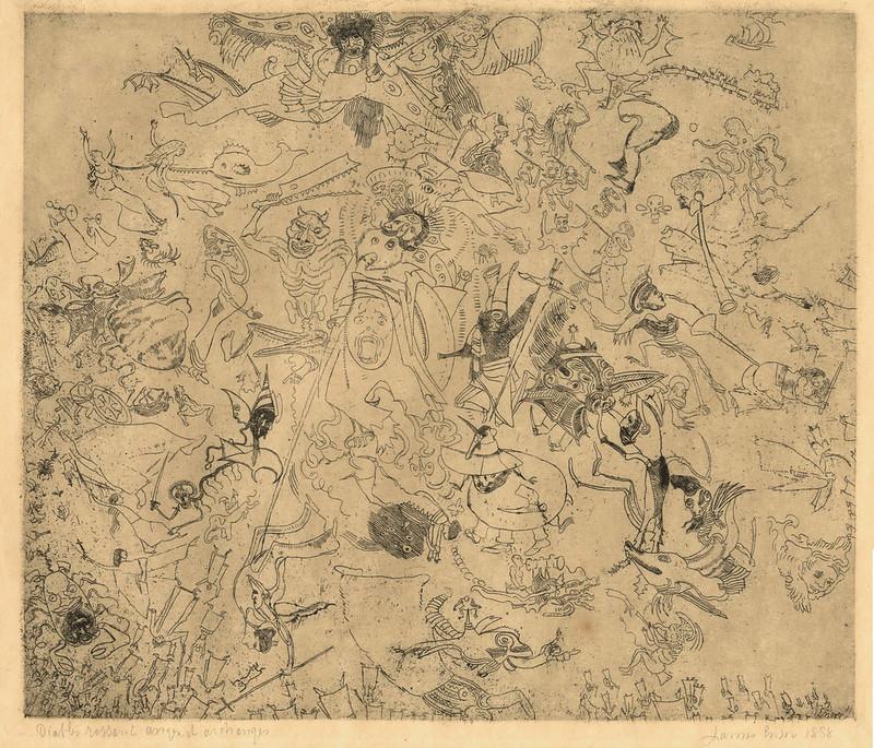 James Ensor - Devils Trashing Angels and Archangels, 1888