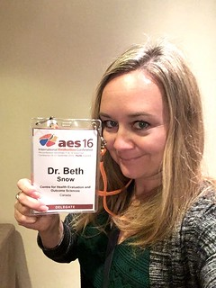 Conference nametag selfie