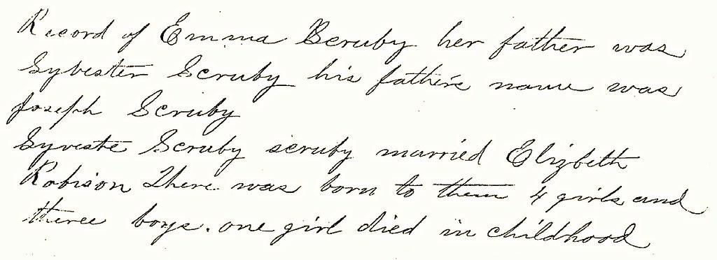 Emma Scruby ancestors