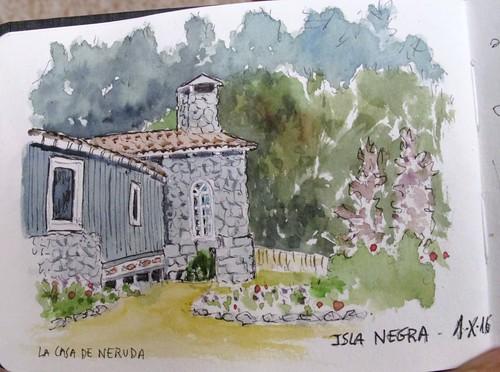 Casa de Pablo Neruda en Isla Negra. Chile