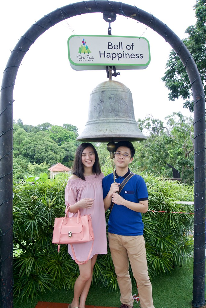 Joshua & Tiffany under the Bell of Happiness, Mount Faber.
