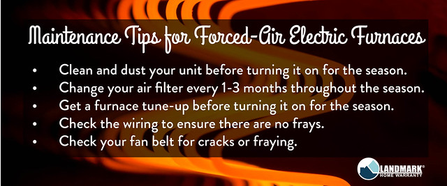 Maintnenance Tips for Forced Air Electric Furnaces