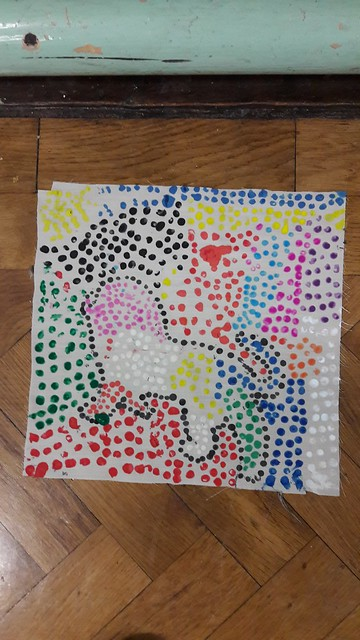Pointillism in Ms.Flynn's 1st class!