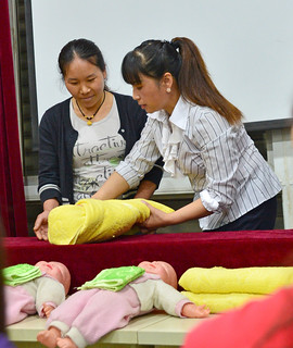 Training in professional baby-care | by World Bank Photo Collection