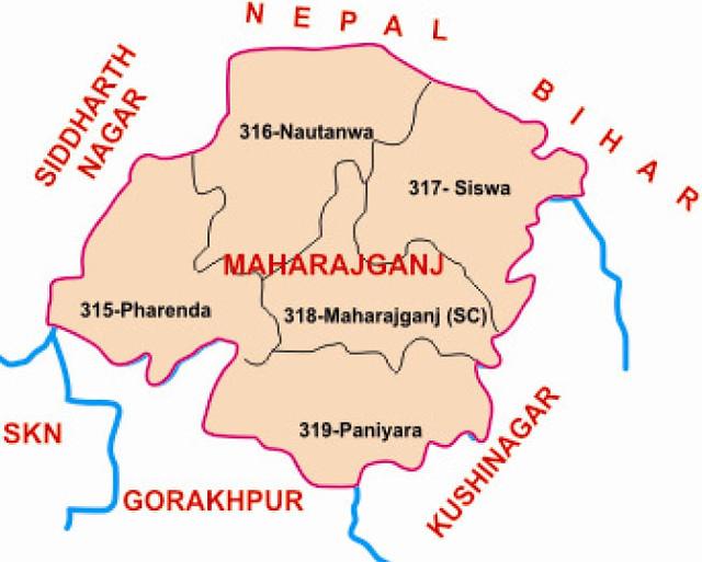 Maharajganj district Uttar Pradesh Election 2017