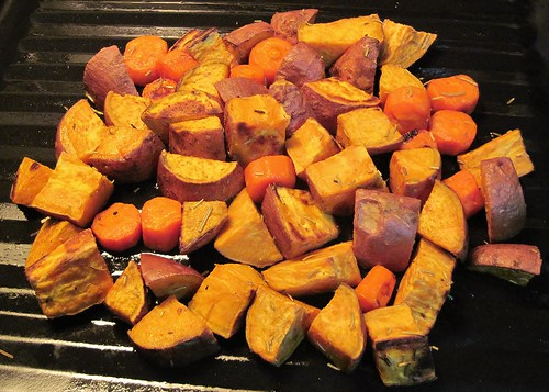 Roasted sweet potatoes & carrot with Rosemary | by SaucyGlo