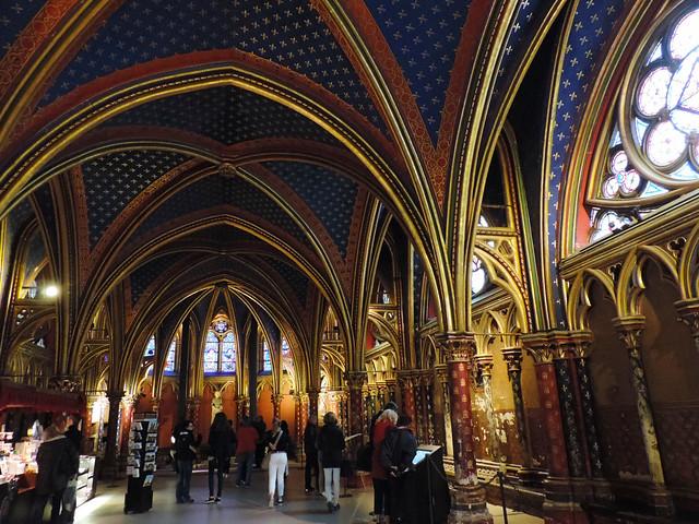 Lower chapel of Sainte-Chapelle, Paris, France