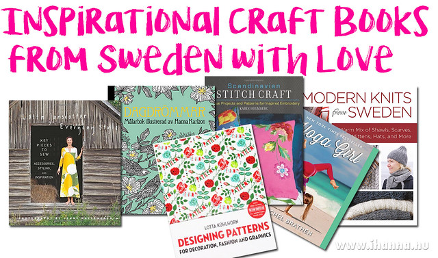 Inspirational Craft Books from Sweden - a list by iHanna #sweden #DIY
