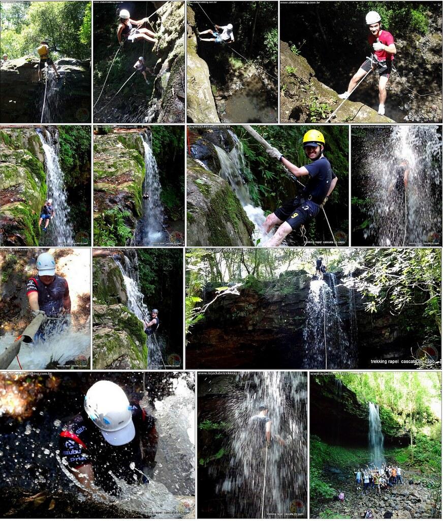Rapel na Cascata do Sapo em Itaara RS - Clube Trekking Santa Maria