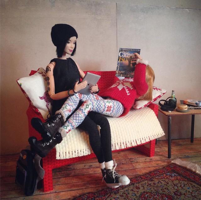 Personal Space. . . #dollcrafts #dollstagram #instadoll #dollfurniture #barbie #maxandjuno #dolldiorama #dollprops #6thscale #playscale