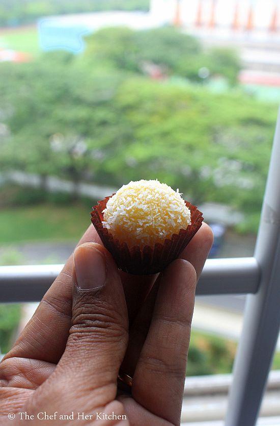 coconut ladoo using condensed milk