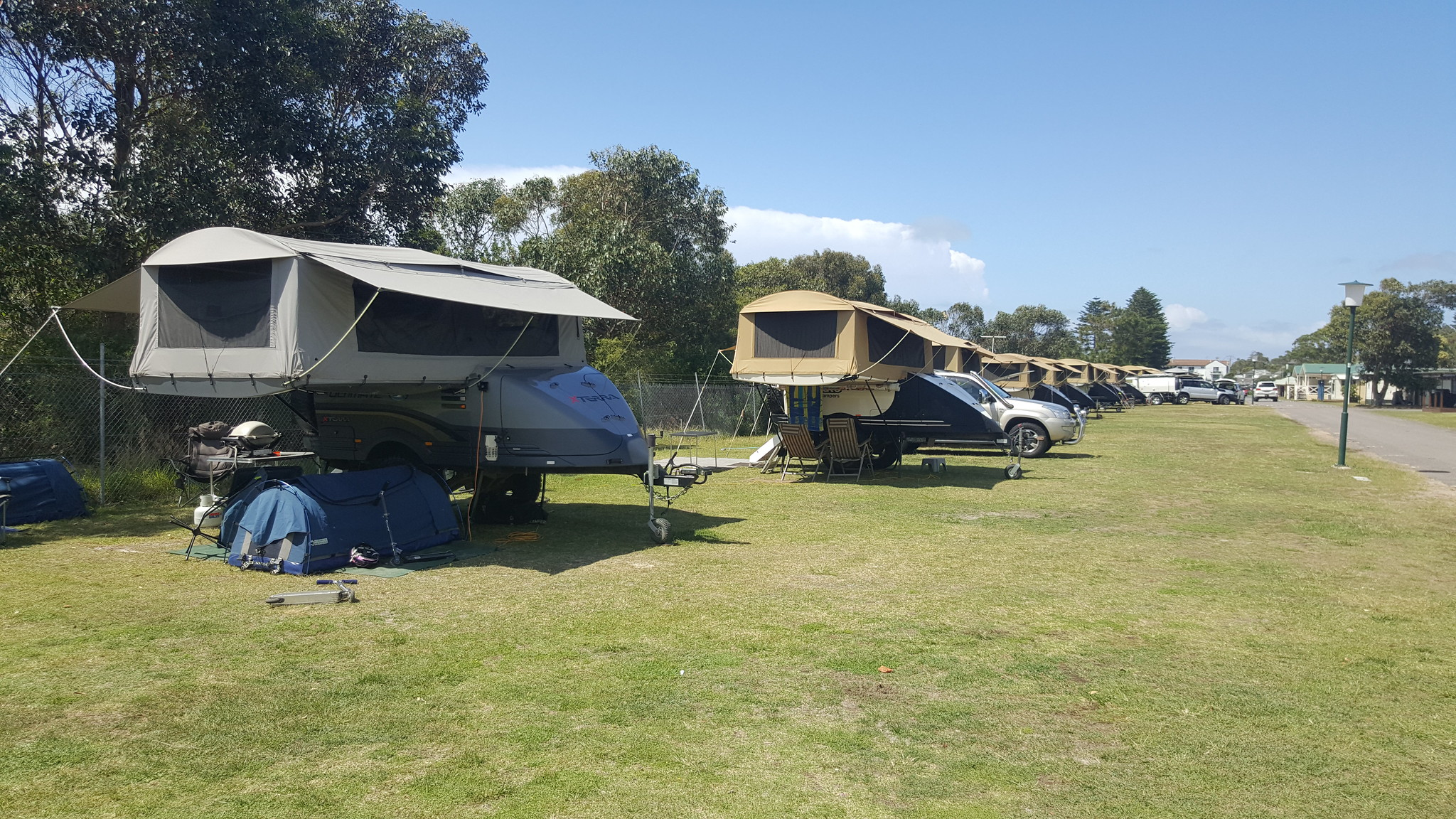 Our camper, in a row of Ultimates as far as the eye can see. We were one of 36 over the weekend.