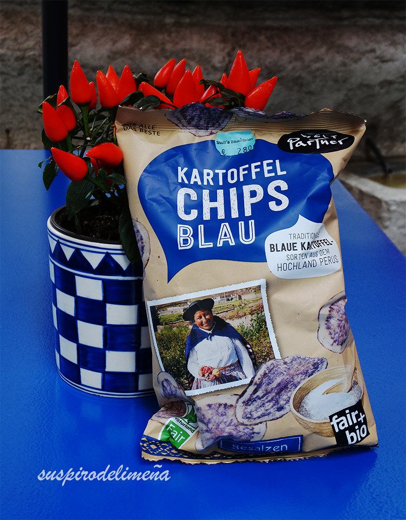 Papa azul chips... ¡FAIR+BIO! :0