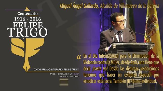 Gala Literaria XXXVI Felipe Trigo