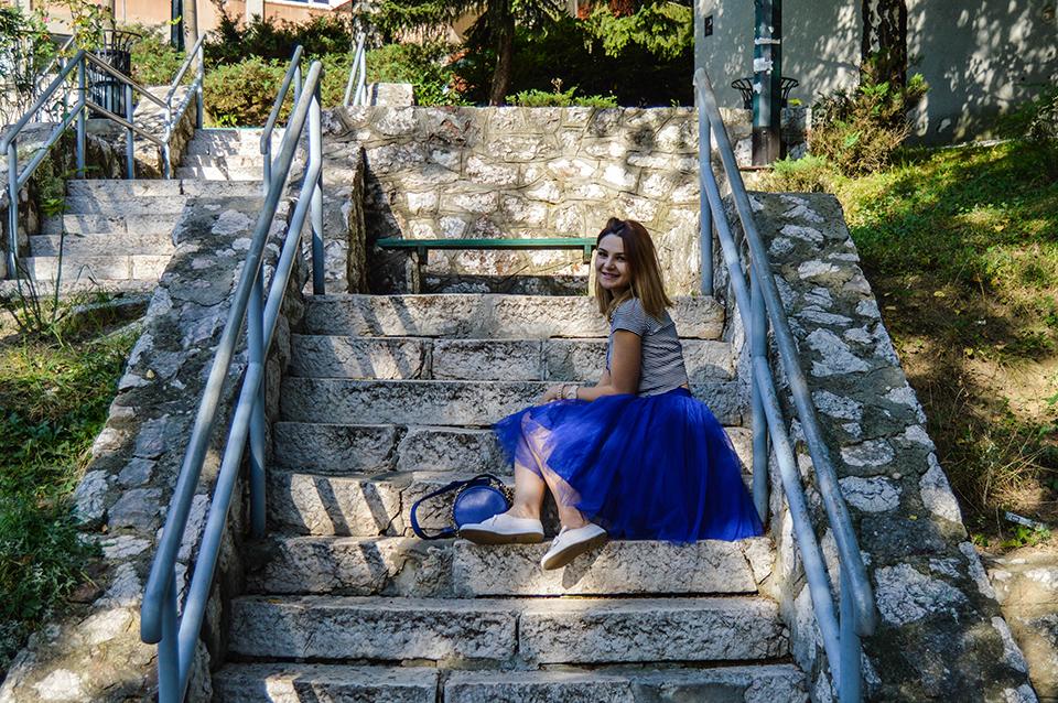 Blue skirt-1