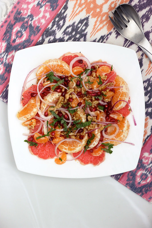 Winter Citrus Salad - Gluten-free w/ Vegan Option