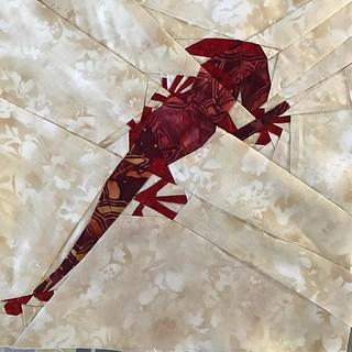 Fantastic Beast QAL Week 5 - Salamander #fbqal #fandominstiches