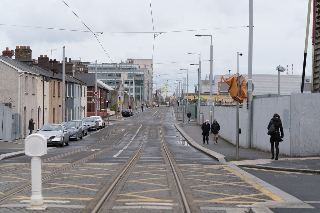 VIEW FROM SPENCER DOCK TRAM STOP [RED LINE LUAS SERVICE]-1237981