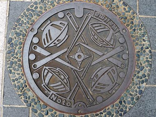 Wajima Ishikawa, manhole cover 4 (石川県輪島市のマンホール4)