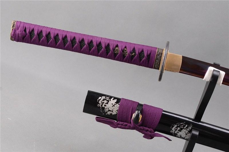 Japanese-samurai-sword-blue-blade-handle