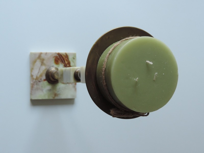 Boden kerzenst nder mit dorn messing marmor onyx ebay for Onyx marmor tisch