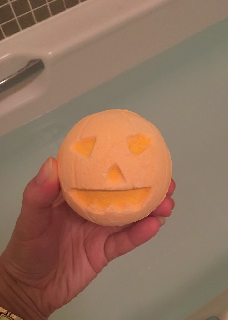 pumpkin bath bomb 2