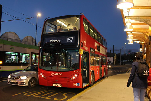 Arriva London T128 on Route 157, West Croydon Bus Station