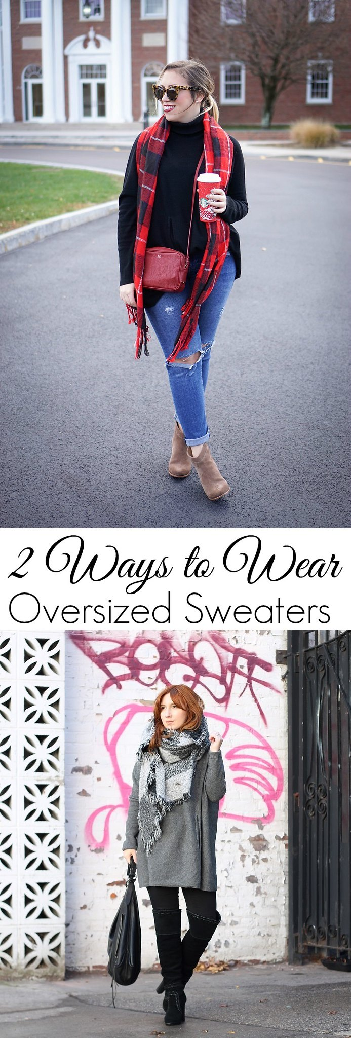 2 Ways to Wear Oversized Sweaters
