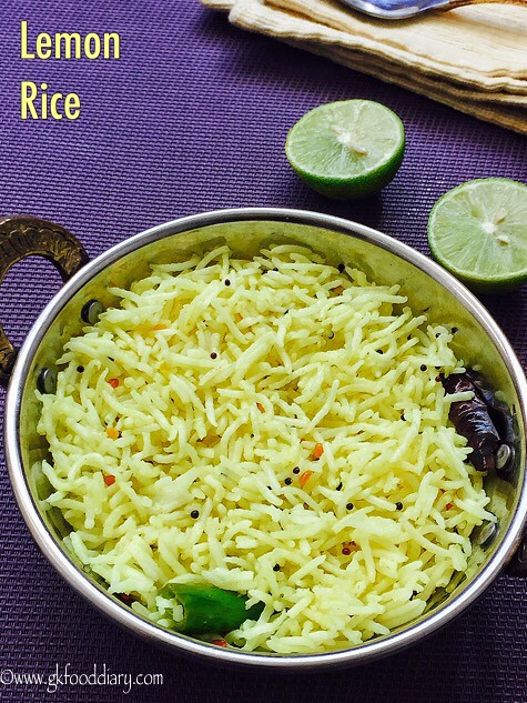 Lemon Rice Recipe for Toddlers and Kids