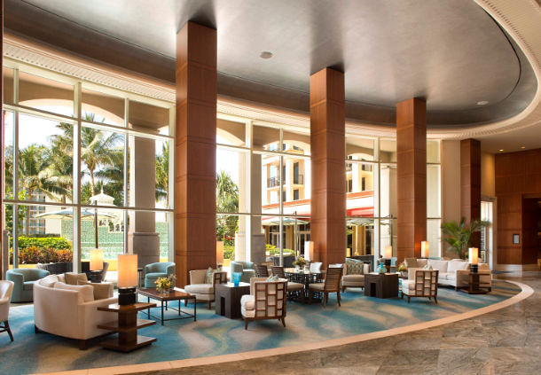 Lobby of the Palm Beach Marriott Singer Island Resort and Spa