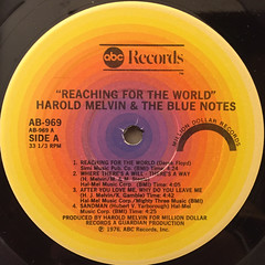 HAROLD MELVIN AND THE BLUE NOTES:REACHING FOR THE WORLD(LABEL SIDE-A)