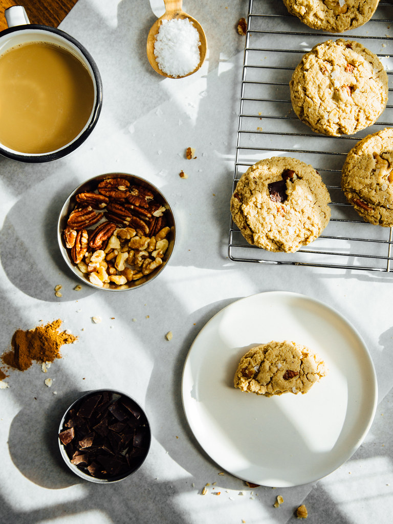Oat + cashew butter breakfast cookies