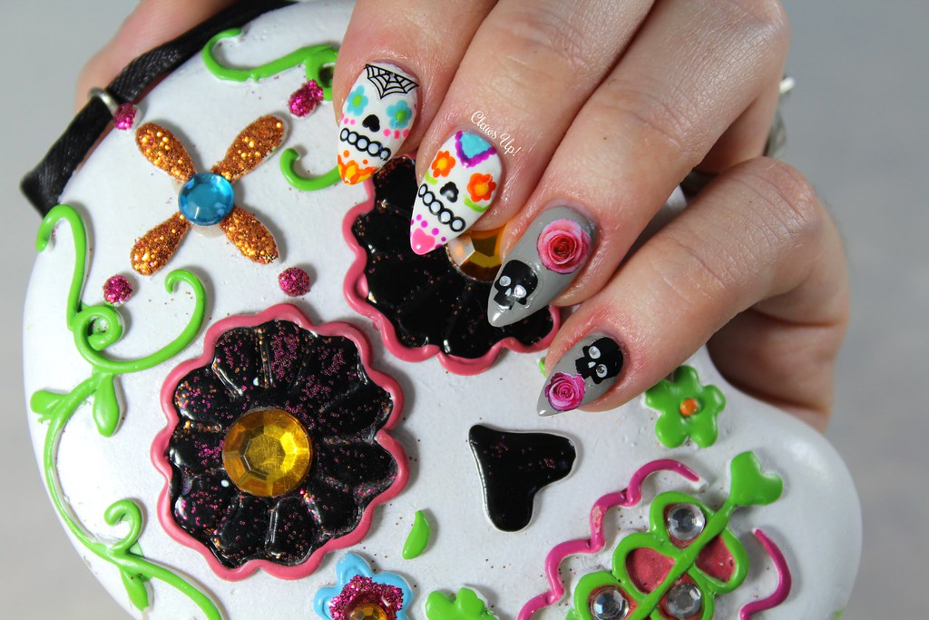 Day of the Dead nail art