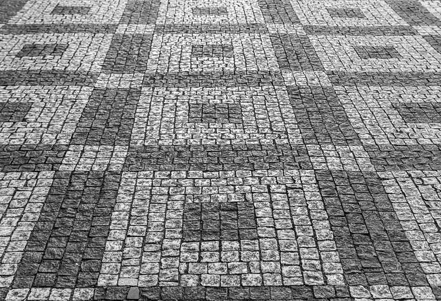 stone sidewalks