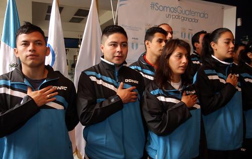 Equipo de tenis de mesa hacia el Centroamericano mayor