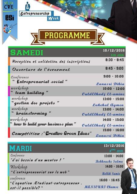cve week entrepreneurship