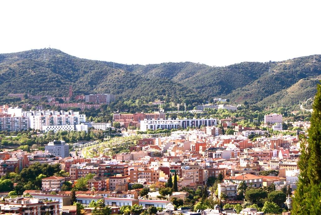 Vue sur le quartier d'Horta depuis le parc de Guinardo.