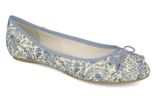 Georgia Rose blue floral flats