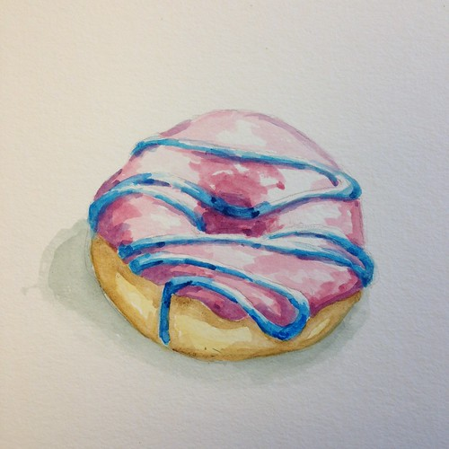 Donut 1, watercolor