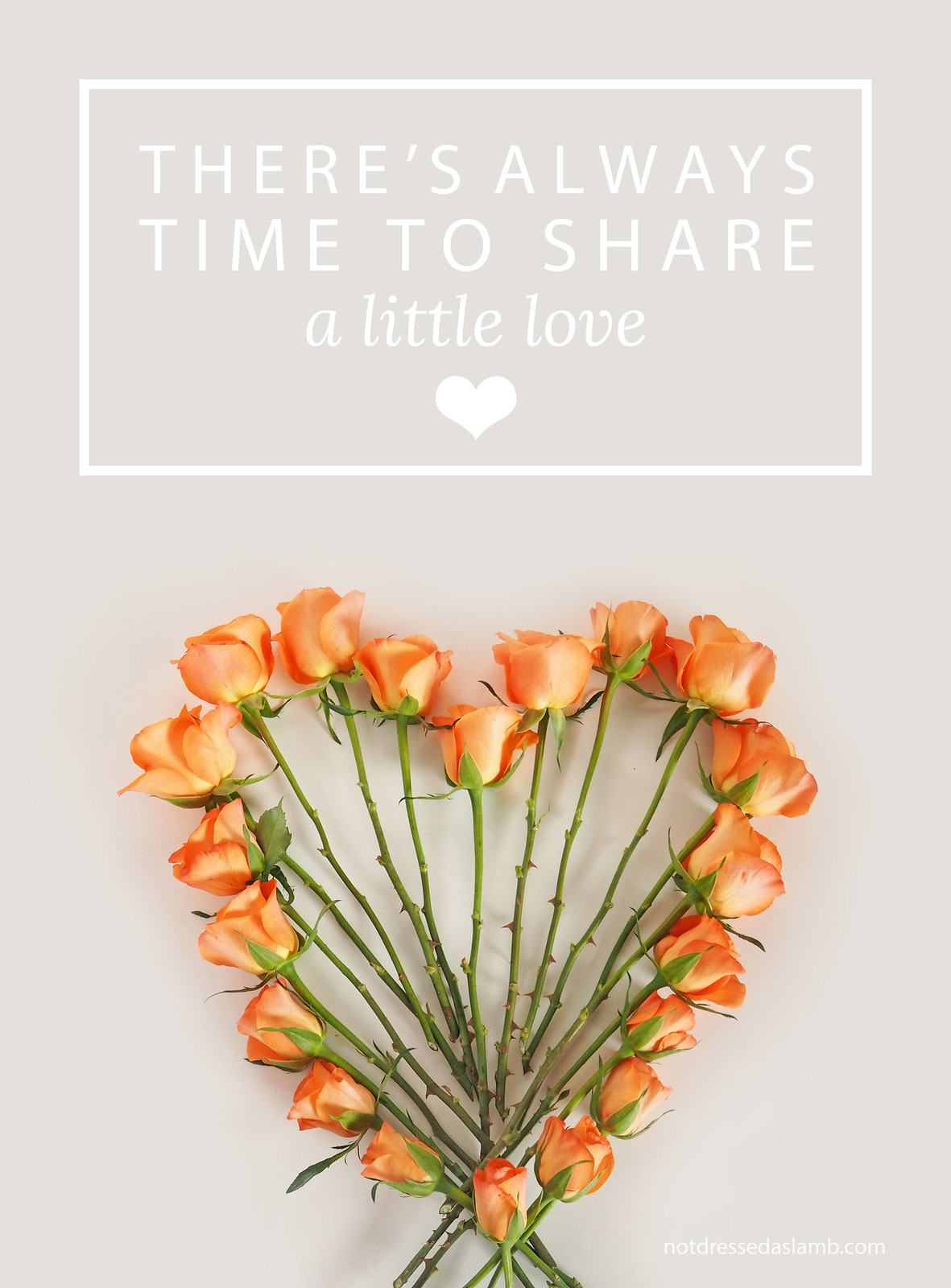 There's always time to share a little love | Not Dressed As Lamb, over 40 style blog