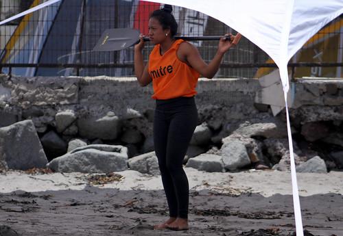 Medalla de plata para Clara Montesdeoca en Juegos Bolivarianos de playa, Iquique 2016