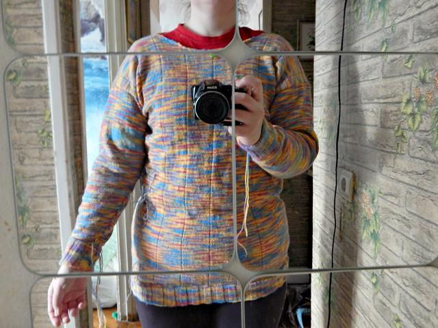 Свитер, первая попытка, маловат | sweater - 1st draft - too small