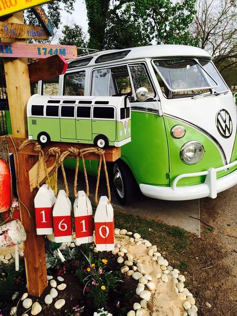 Lime Green Split VW Bus Mailbox by TheBusBox