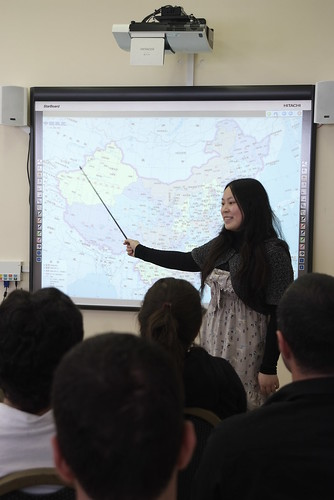 Students use the Interactive Whiteboard