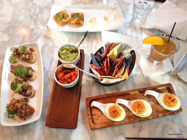 tapas from Té restaurant