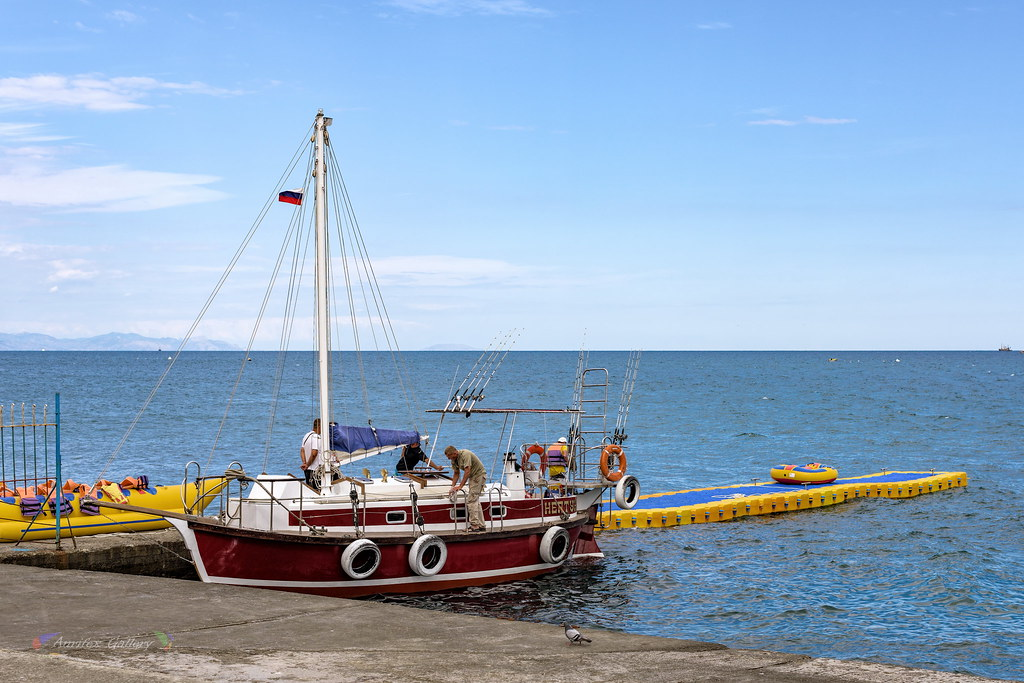 Berthing before sea walk
