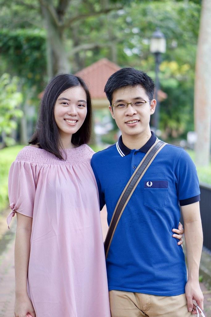 Joshua & Tiffany at Mount Faber.
